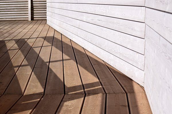 New composite decking installation