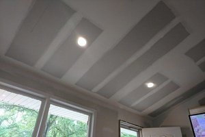 New drywall ceiling repair with can lights