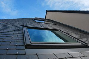 Skylight repair with roof view